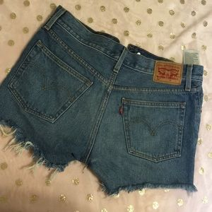Levi's Ripped Jean Shorts